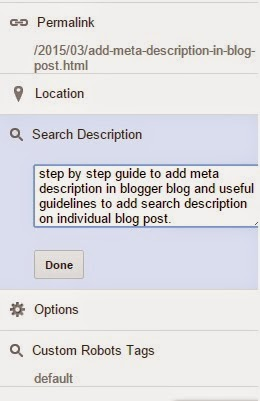 Adding meta description to every blog post