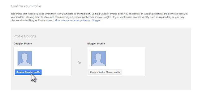 Choose Google Plus Profile