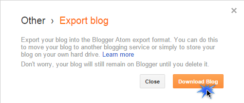 download-all-blogger-post-via-export-option