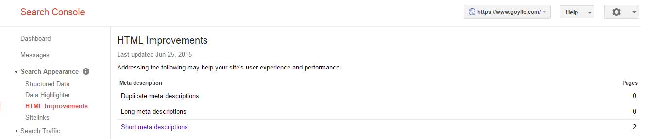 Meta description improvement on Google webmaster tools.png